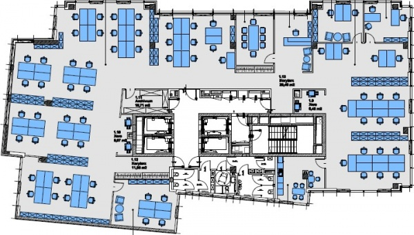 Office concept tower 87 grzybowska street warsaw wola for Typical office floor plan