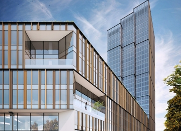 News from the construction of the greenest office campus in Warsaw Forest.
