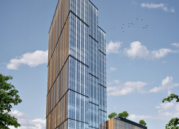Forest is growing. The office building will reach its target height in spring