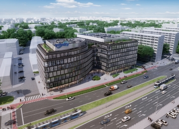 New office is building in Wroclaw