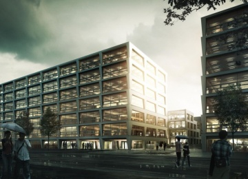 P4 complex with the award of the President of the Capital City of Warsaw