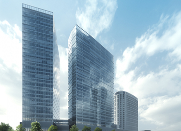 The Second Tower of The Warsaw HUB Topped Out