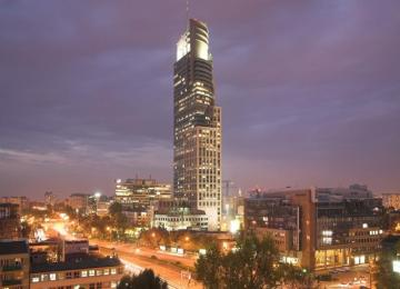 Warsaw Trade Tower with the BREEAM certificate