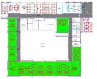 Typical floorplan in building Witosa 7 (Carrefour)